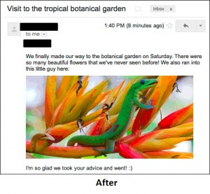 Gmail Inbox - After images being displayed by default